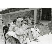 Elizabeth Taylor and Richard Burton with their children in Puerto Vallarta Photo Print by Globe Photos LLC
