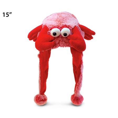 Super-Soft Plush Hat - Red Lobster (Lobster Hat)