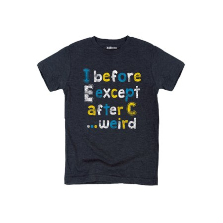 I before E Except After C-Youth Short Sleeve Tee (Jergens Instant Sun Mousse Before And After)