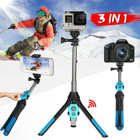 Portable Professional Camera Tripod, 360 Degree Camera Monopod Bluetooth Selfie Stick Tripod with Remote Control for Go-Pro & Camera, for iPhone & Android Smart Mobile Phone - image 10 of 10