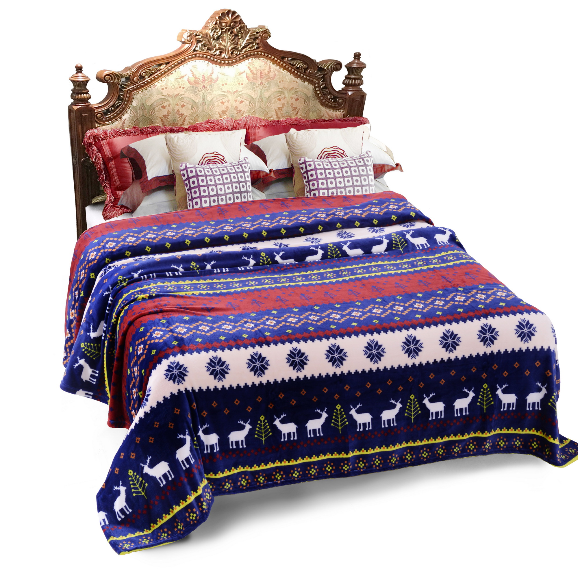 Multipurpose Cozy Warm Throw Blanket for Bed Couch Super Warm Bed Blanket Queen 79 x... by JML