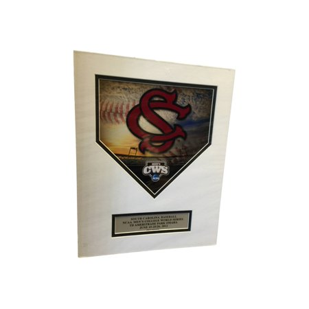 South Carolina Gamecocks Ready To Frame 2012 Cws Die Cut Homeplate Print 11 X14