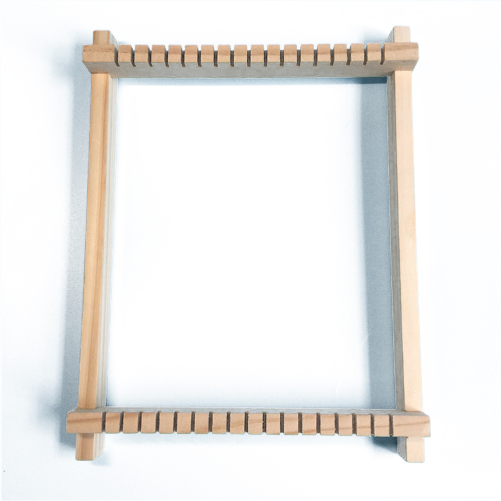 DIY Hand-Knitting Wooden Loom Toys Children Weaving Machine Interllectural Development Technology Production Color:DIY loom - image 1 de 6