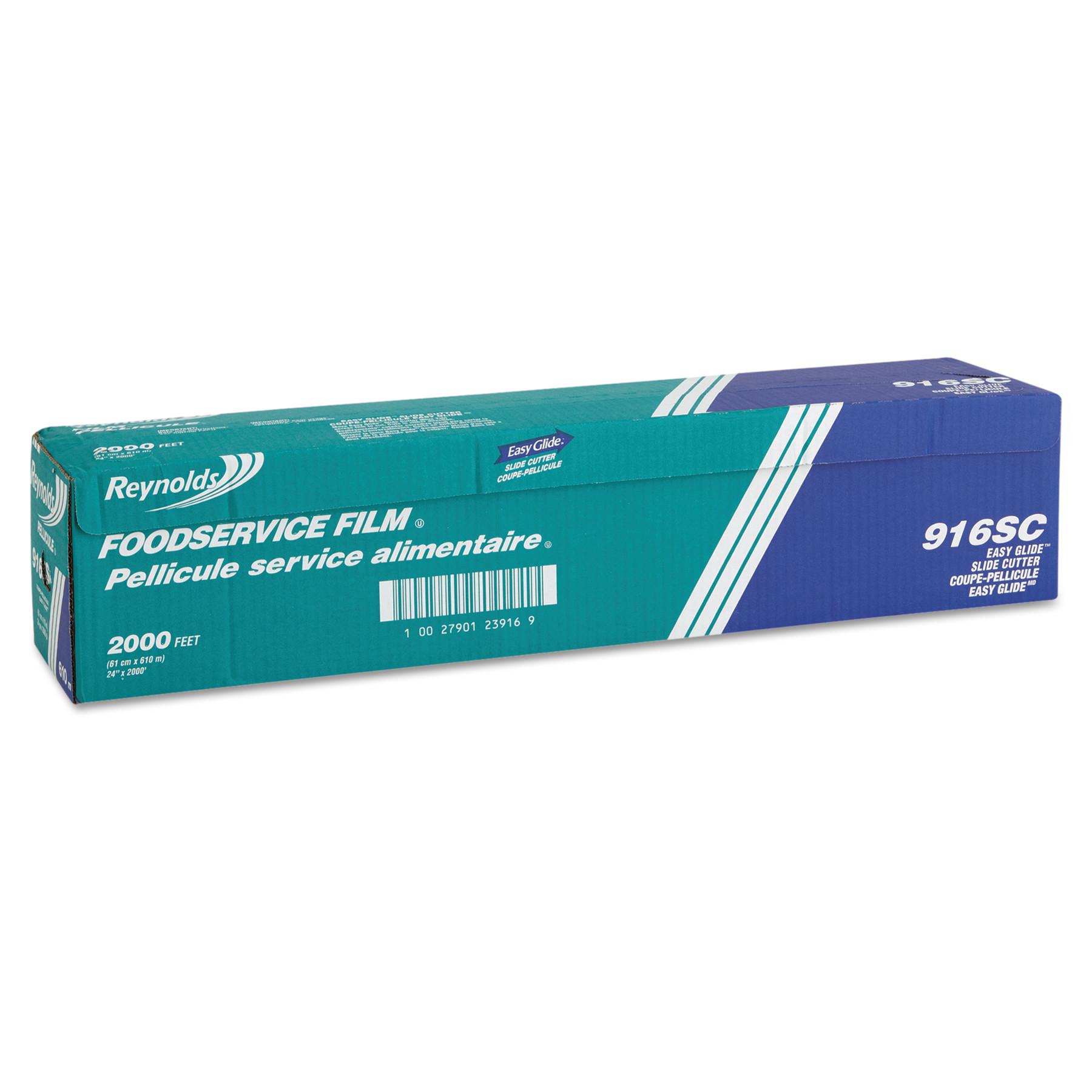 "Reynolds Wrap PVC Film Roll w/Cutter Box, 24"" x 2000 ft, Clear"