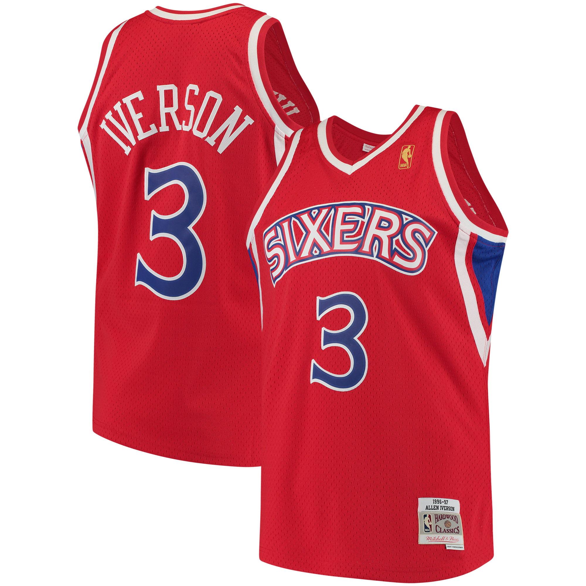 Allen Iverson Philadelphia 76ers Mitchell & Ness 1996-97 Hardwood Classics Swingman Jersey - Red