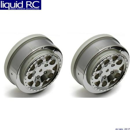 Associated Wheel - Associated 91221 SC10B Front Wheels chrome