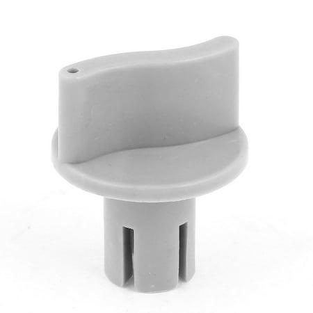 Unique Bargains 6mm Installing Pin Diameter Gray Plastic Control Knobs for Fan