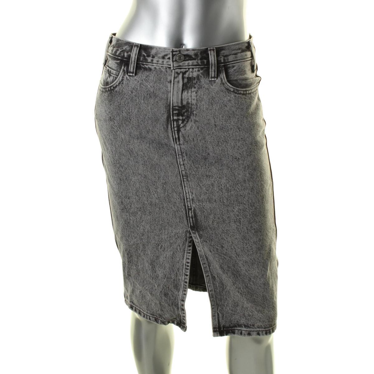 Levi's Womens Juniors Denim Slit Front Denim Skirt