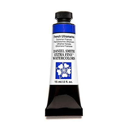 French Watercolor (Daniel Smith - Extra-Fine Watercolor - 15ml Tube - French Ultramarine)
