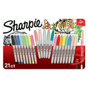 Sharpie Permanent Markers, Fine and Ultra-Fine Point, Assorted, 21 Count