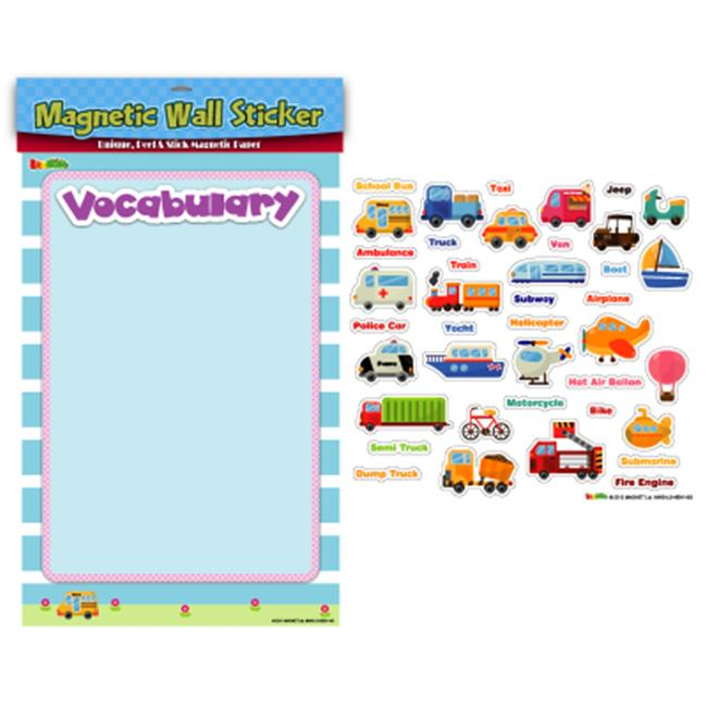 American Educational Products MAG-113 Transportation Vocabulary Magnetic Wall Sticker