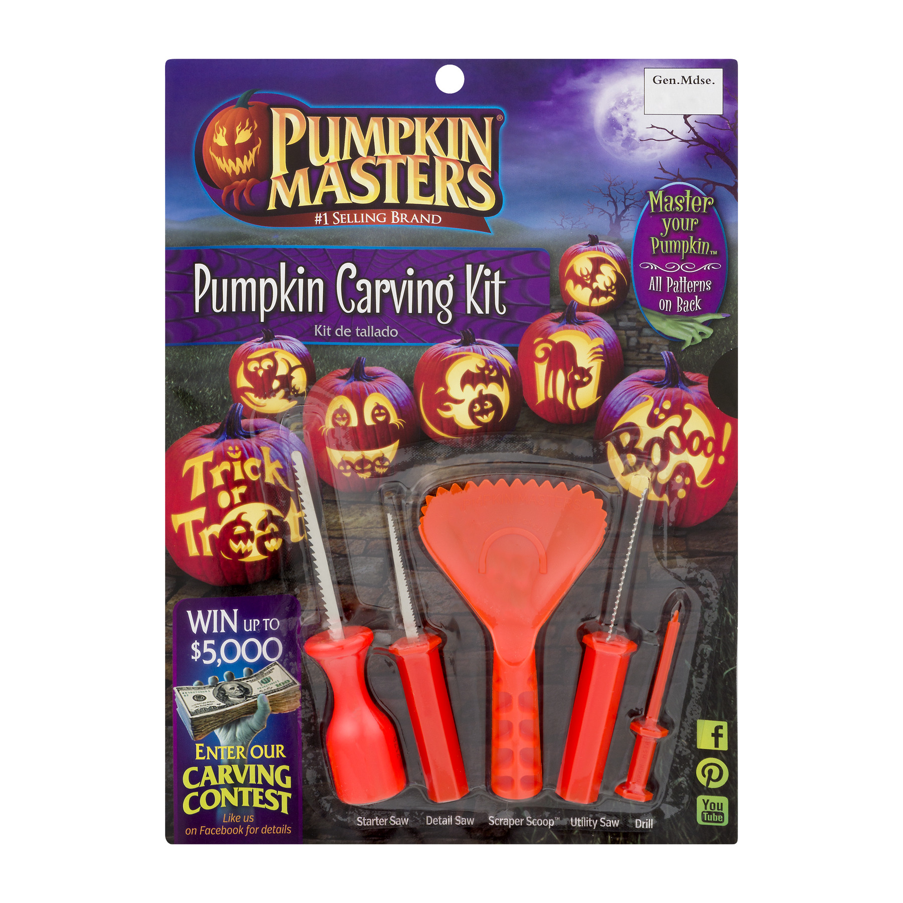 Pumpkin Masters Pumpkin Carving Kit, 1.0 KIT