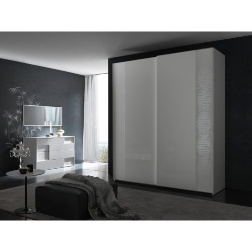 Rossetto USA Nightfly 80 in. 2 Door Sliding Wardrobe - White