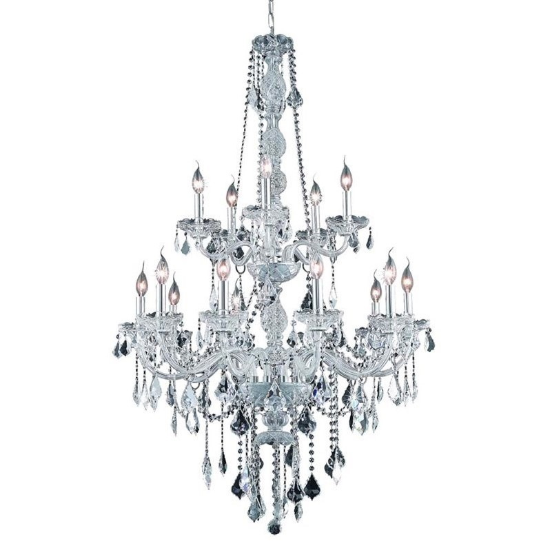 "Elegant Lighting Verona 33"" 15 Light Elegant Crystal Chandelier - image 1 of 1"