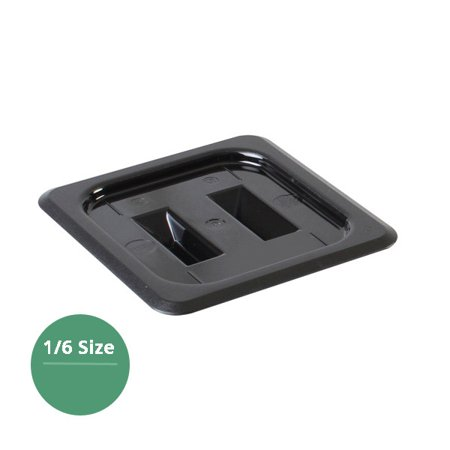 Sixth Size Solid Cover For Polycarbonate Food Pan, Black, total 12 Counts (Solid Polycarbonate)