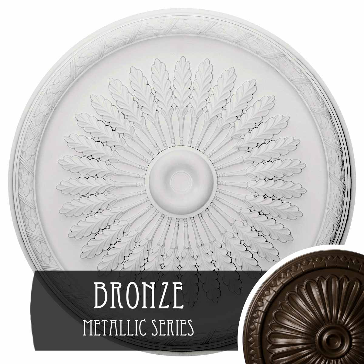 """36""""OD x 1 1/2""""P Juniper Ceiling Medallion (Fits Canopies up to 7"""")"""