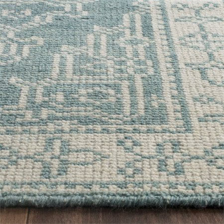 Safavieh Kenya 2' X 3' Hand Knotted Wool Pile Rug in Ivory and Blue - image 6 of 10