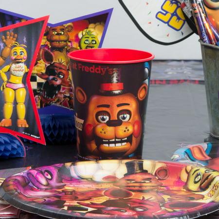 Spider Man Stadium Cup - 16oz Five Nights at Freddys Plastic Stadium Cup, 6ct