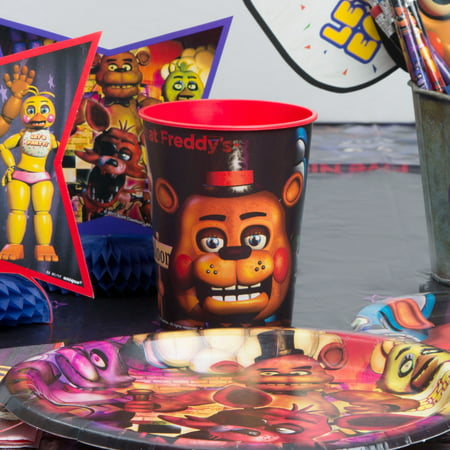 16oz Five Nights at Freddys Plastic Stadium Cup, 6ct - Stadium Cups