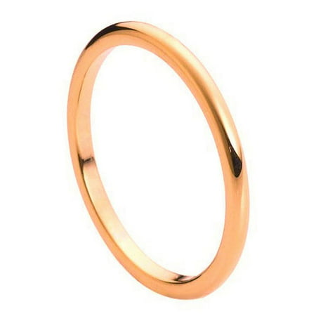 Free Personalized laser engraving tungsten Band 2mm High Polished Rose Gold Tone IP Plated Thin Band