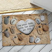 Personalized Pebble Feet Doormat Available In Multiple Names