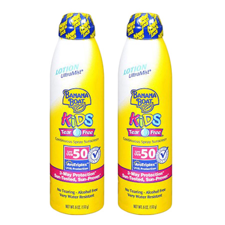 (2 Pack) Banana Boat Kids UltraMist Kids Tear Free Sunscreen - SPF 50 - 6 Oz