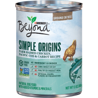 Purina Beyond Grain Free, Natural Pate Wet Dog Food, Simple Origins Chicken& Cod Recipe - 13 oz. Can