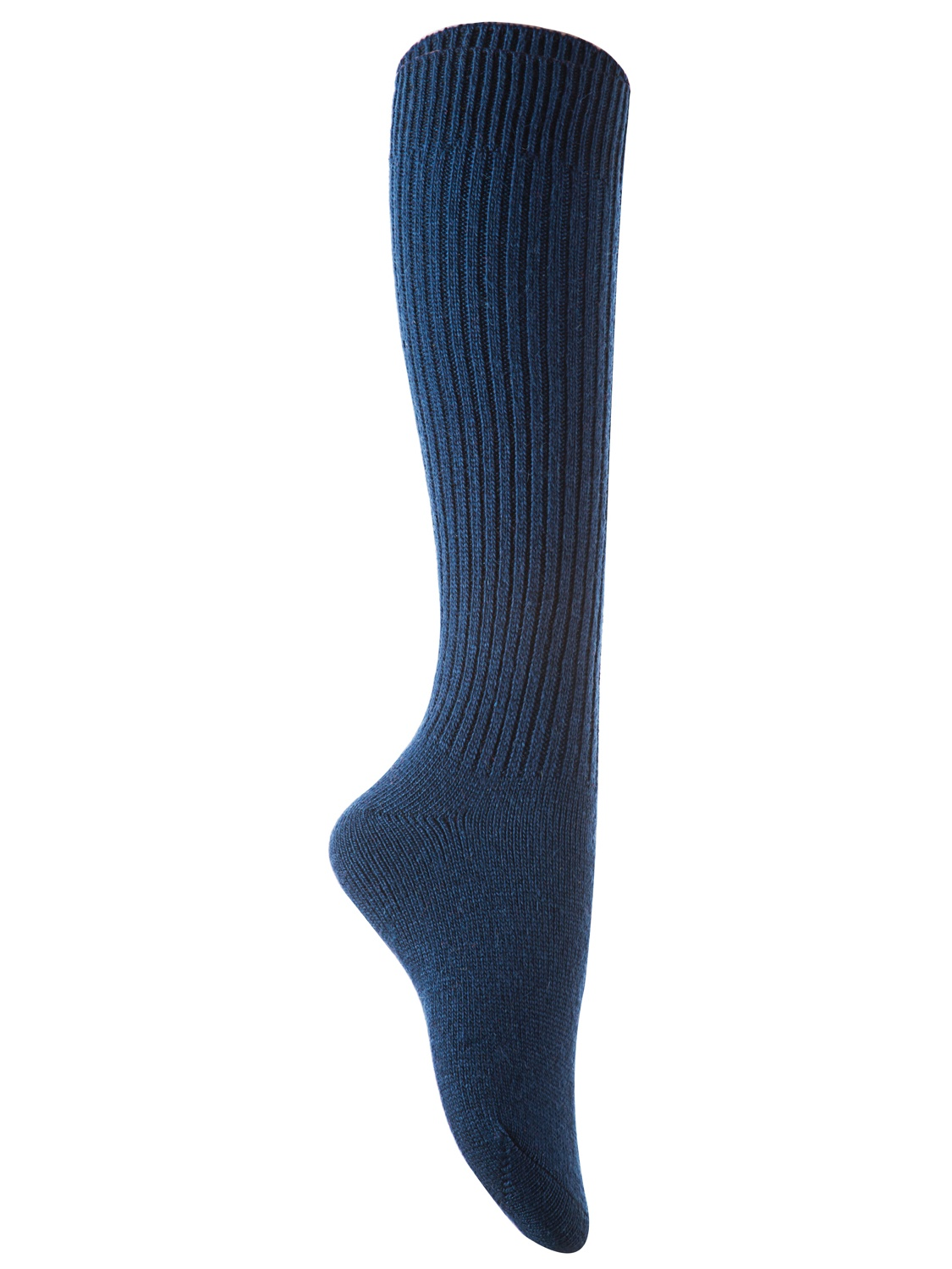 Lian Style Big Girl's 1 Pair Knee-high Knitted Wool Socks stripped FS05 Size XL(Grey)