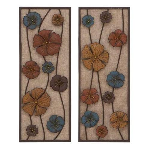 Woodland Import 54317 Metal Wall Panel in Urbane Finesse - Set of 2
