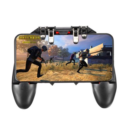 Professional AK66 Six Finger Gamepad Phone Mobile Video Game Controllers Fire Button Trigger Joystick For Shooter Controller PUBG EPB iOS Android L1R1 L2R2 Mobile Gaming Gifts 6 Button Game Controller