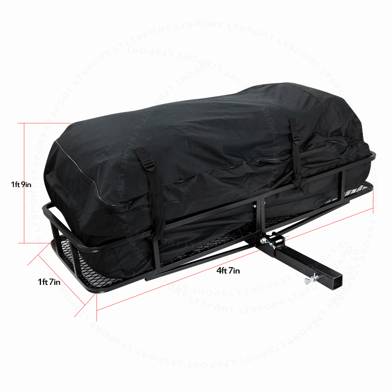 Fit Honda Civic Trailer Hitch Storage Rack Cargo Bag Carrier 57x21 Basket  Combo