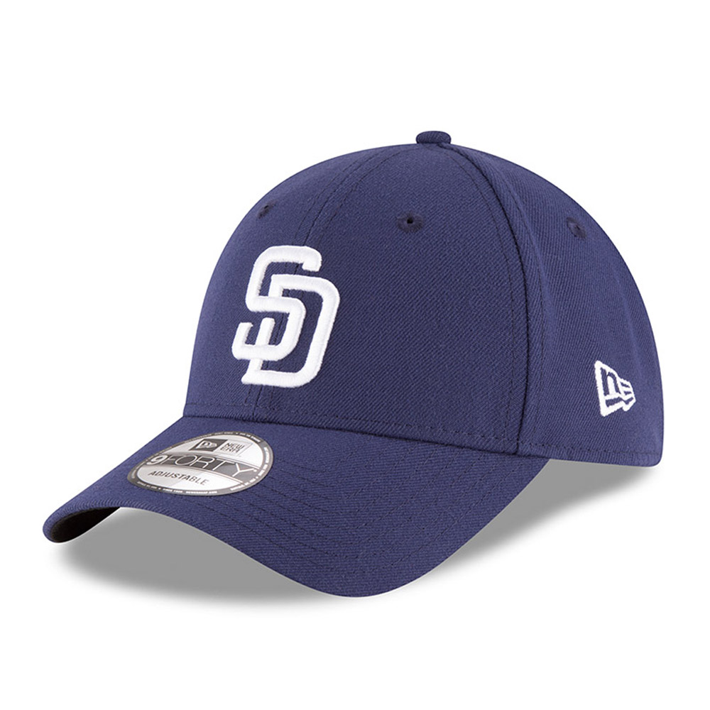 San Diego Padres New Era The League 9FORTY Adjustable Hat - Navy - OSFA