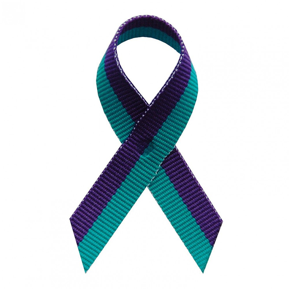 USA Made Suicide Prevention Awareness Ribbons - Bag of 125 Lapel Ribbons w/ Safety Pins (Many Colors Available) (Pin Already Attached)