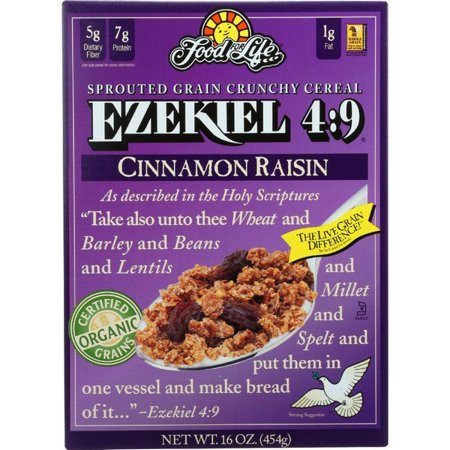 Food For Life Baking Co. Cereal - Organic - Ezekiel 4-9 - Sprouted Whole Grain - Cinnamon Raisin - 16 Oz - pack of
