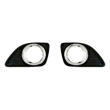 CarLights360 For 2010 2011 TOYOTA CAMRY Foglight Bezel Cover Pair Driver and Passenger Side Replaces TO1038131 TO1039131