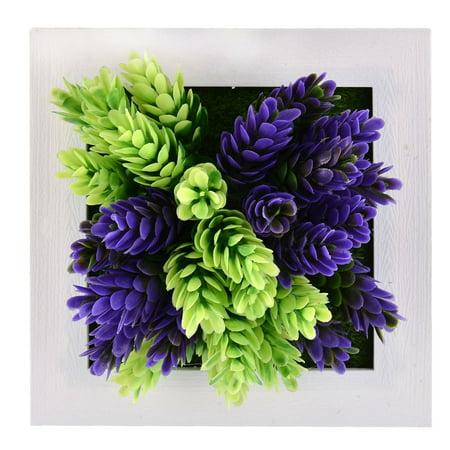 Home Party Plastic Flower Shaped Artificial Plant Decoration Frame 15cm x 15cm - image 4 of 4