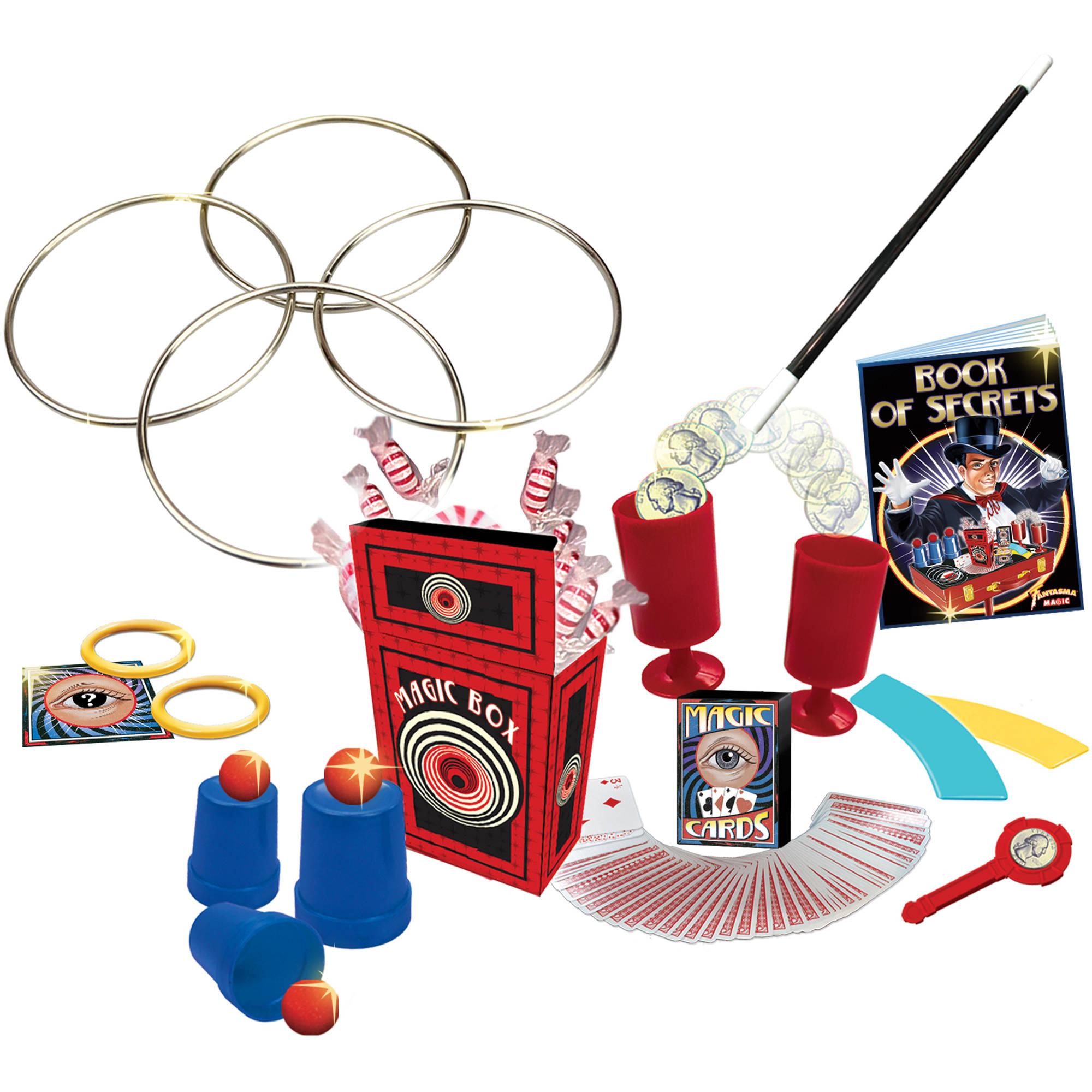 Fantasma Magic 150 Tricks Retro Magic Table Set with Wooden Carrying Case