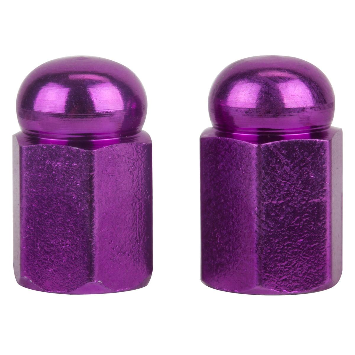 Trick Top Valve Caps Hex Dome Purple