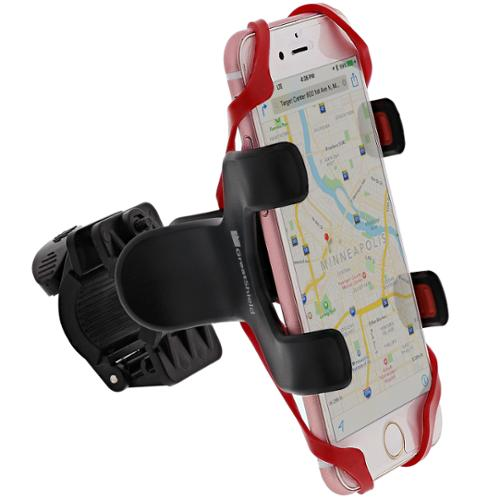 GreatShield Clip-Grip Handlebar Bike Mount Holder for iPhone 6S 6 Plus SE 5, Galaxy S7 S6 Edge, ...