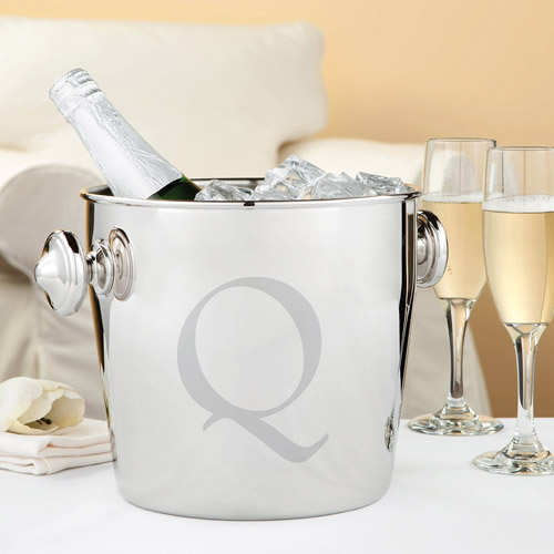 Personalized Your Initial Stainless Steel Champagne Bucket