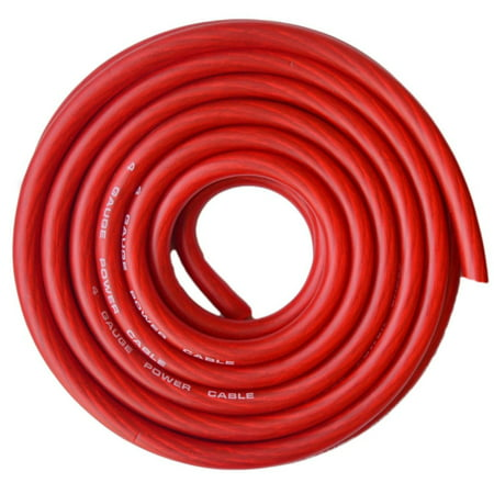 Absolute Usa Cw4 25R 4 Gauge Red Amplifier Amp Power Ground Wire 25 Feet Superflex Cable 25