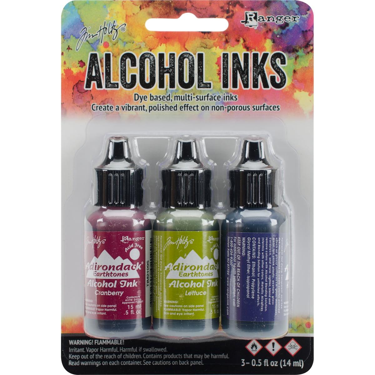 Tim Holtz Alcohol Ink .5oz 3/Pkg-Farmers Market-Cranberry/Lettuce/Eggplnt