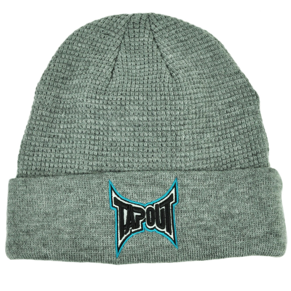 Tapout Gray Cuffed Knit Beanie Toque Hat Mixed Martial Arts MMA UFC Cage Fight