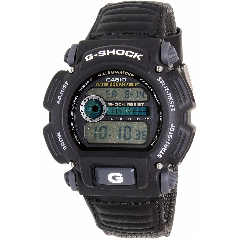 Casio Men's G-Shock DW9052V-1 Black Cloth Quartz Sport Watch
