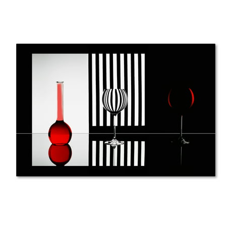 Trademark Fine Art 'Just Red' Canvas Art by Doris Reindl