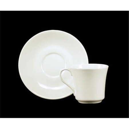 Euland China CLA-001CS 8-Piece Whiteware Cup And Saucer Set