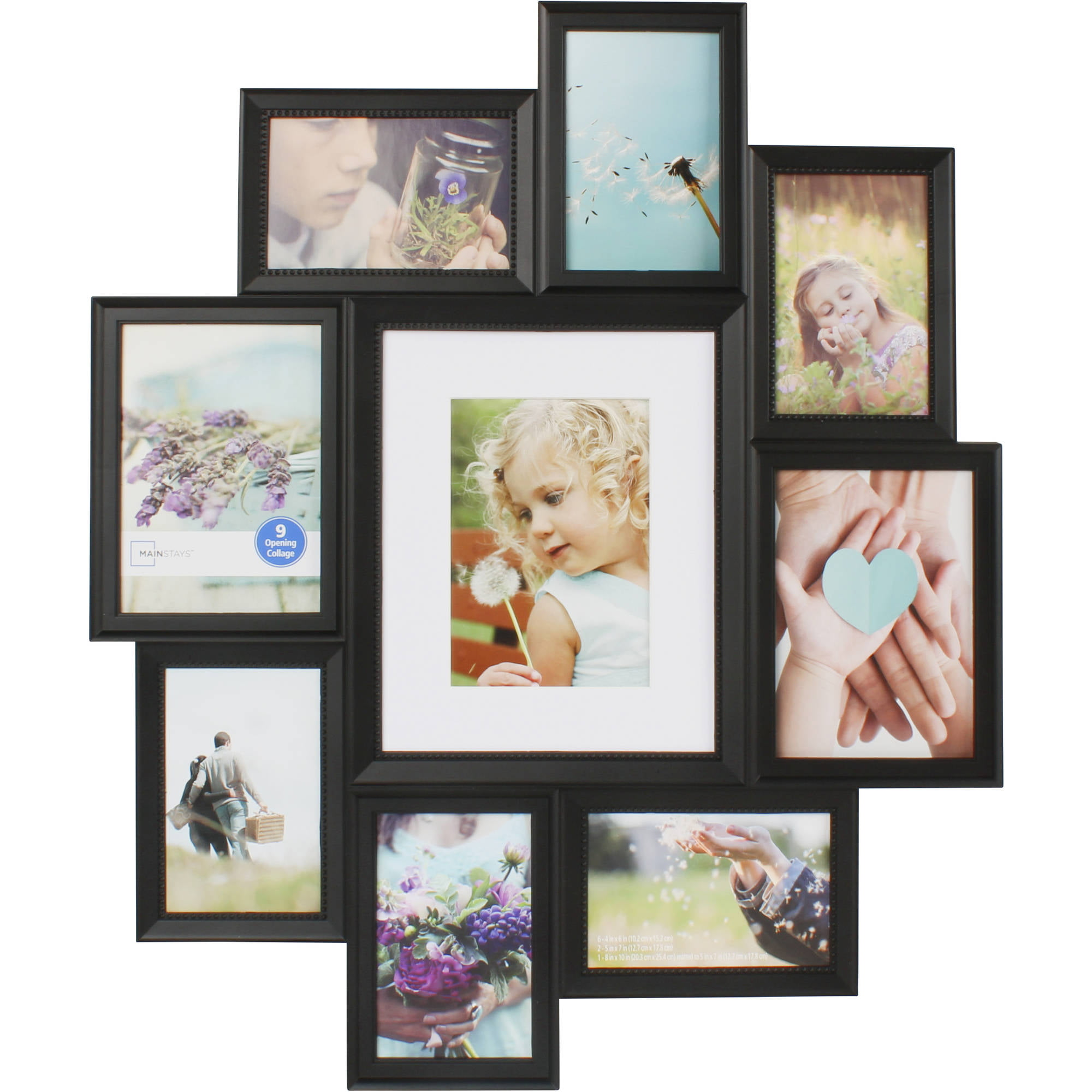 Picture frames collage family mainstays 9 opening collage frame black jeuxipadfo Images