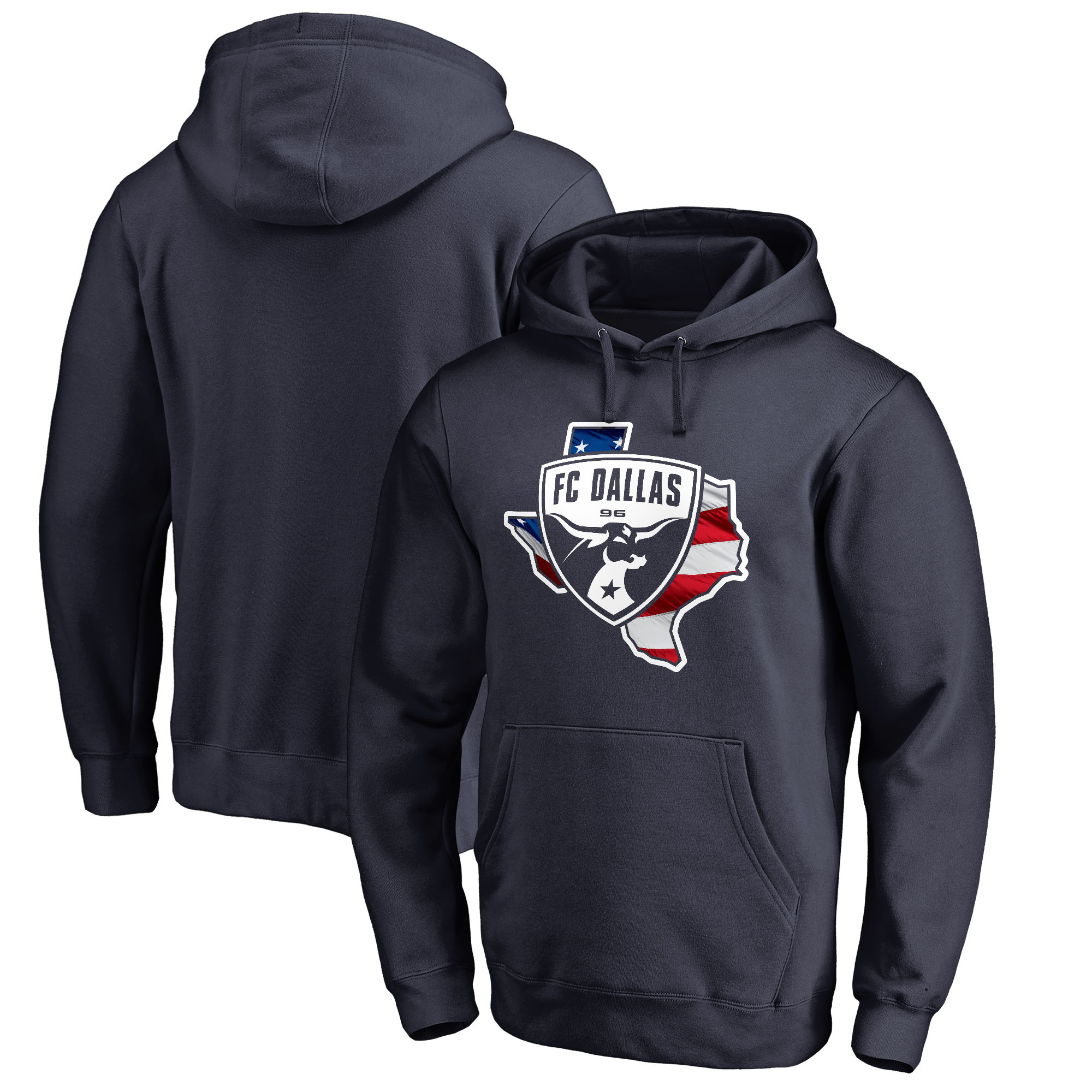 FC Dallas Fanatics Branded Banner State Pullover Hoodie - Navy
