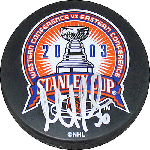 NHL - Martin Brodeur 2001 Stanley Cup Autographed Puck