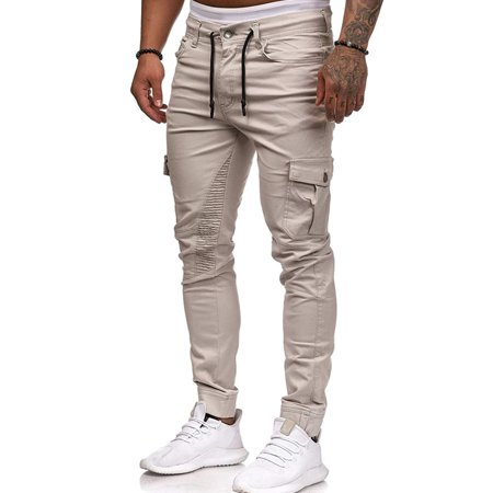 good quality sale uk website for discount Men Gym Slim Fit Jogger Combat Trousers Skinny Cargo Pants Summer Sports  Casual